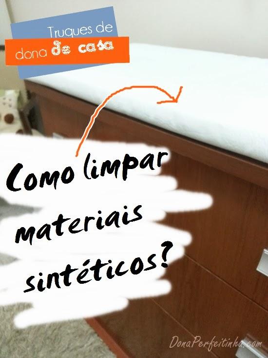 Limpeza de estofados sintéticos (ou de couro)