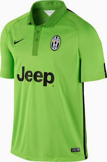 gambar jersey juventus third warna hijau musim 2014/2015 kualitas grade ori made in Thailand