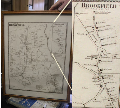 Brookfield, CT 1850's Map