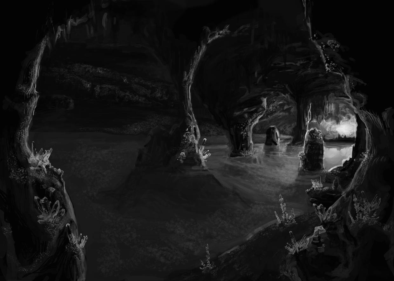 Gimmick sault blog wip caverne de cristal - Dessin sombre ...