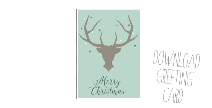 free deer holiday card