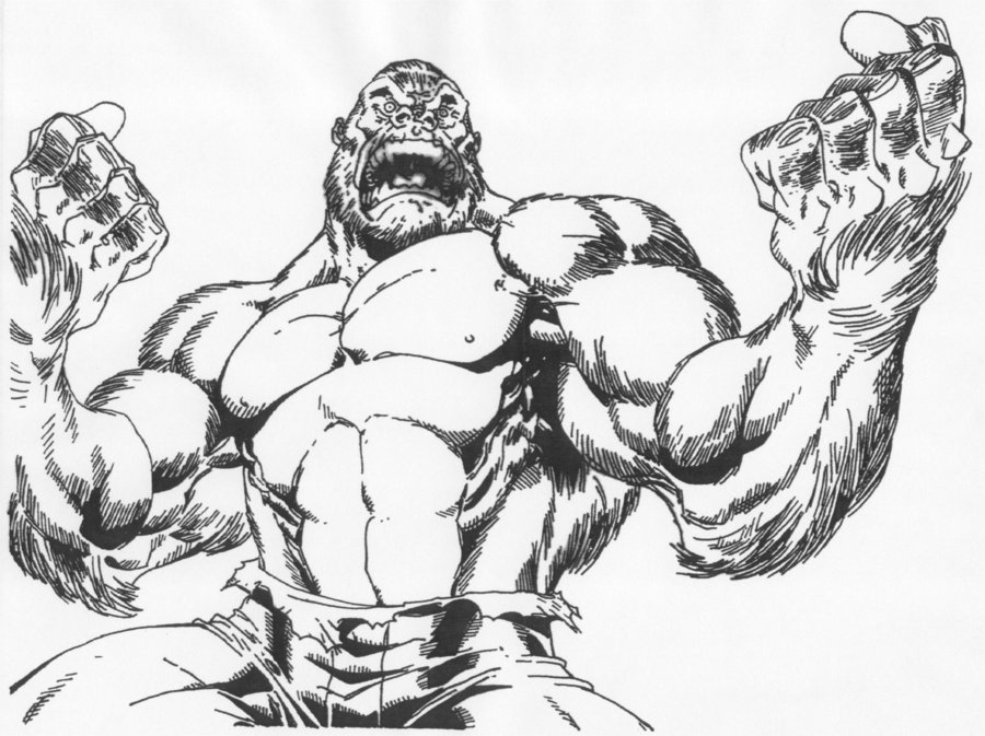 Angry gorilla coloring pages