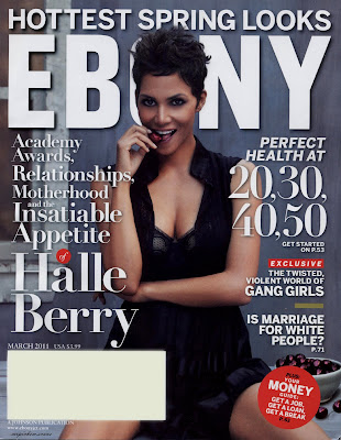 Halle Berry Ebony Cover