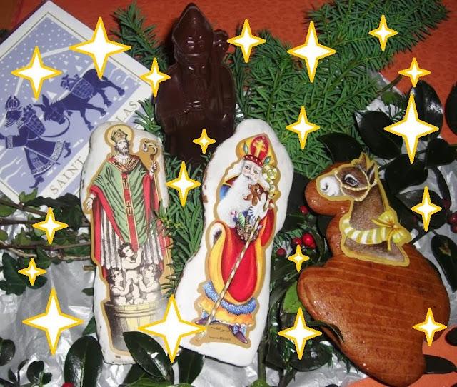 Saint-Nicolas et sa bourrique, en pain d'épices ou en chocolat