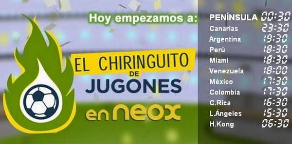 El Chiringuito de Neox, Directo ONLINE