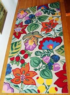 Tapetes de cozinha de flores
