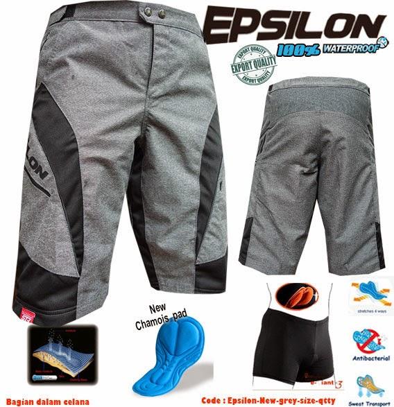 CELANA SEPEDA new STR EPSILON AM to DH (grey) - Waterproff
