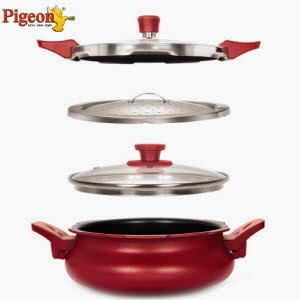 Snapdeal: Buy Pigeon 3 Litres Aluminium Outer Lid Hard Anodised Cooker at Rs.1496