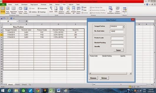 tutorial menyimpan data dari listbox dalam tabel sheet