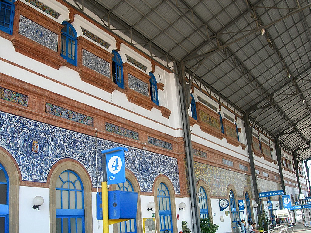 Viajes ferroviarios de ayer hoy y ma ana mud jar y for Azulejos jerez de la frontera