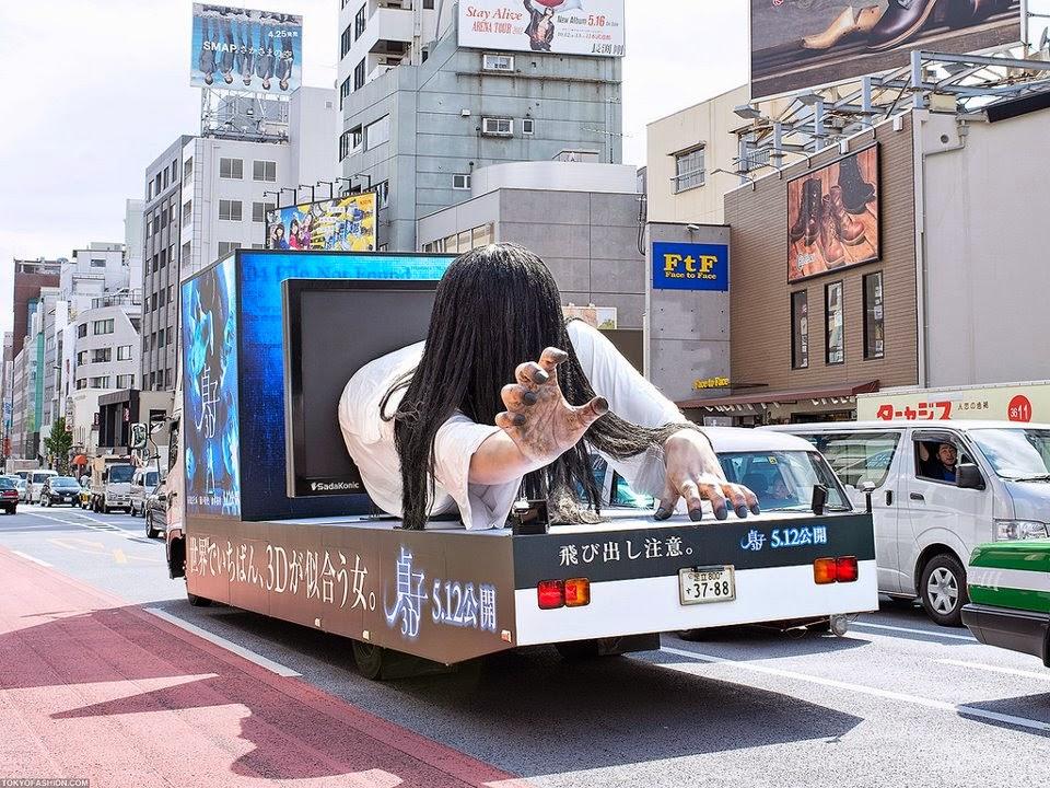 camión publicitario en Japón