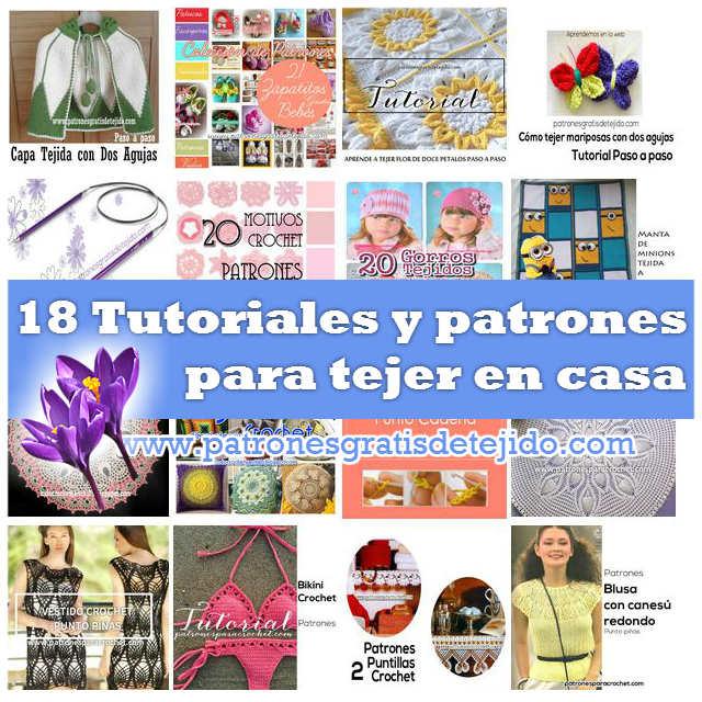 18 tutoriales y patrones para tejer en casa