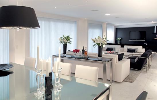 Decoracao Sala De Estar Clean ~ Construindo Minha Casa Clean Branco e Preto na Decoração!!!