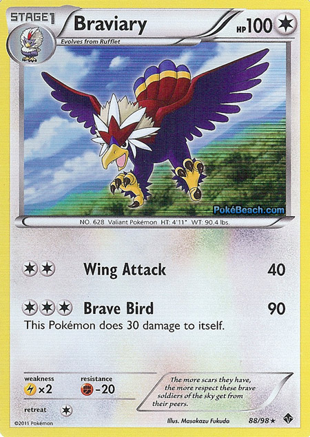Braviary -- Emerging Powers Pokemon Card Review ...