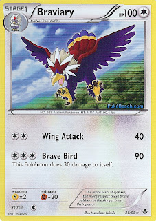 Braviary Pokemon Card Emerging Powers set