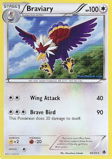Braviary Pokemon Card Emerging Powers set
