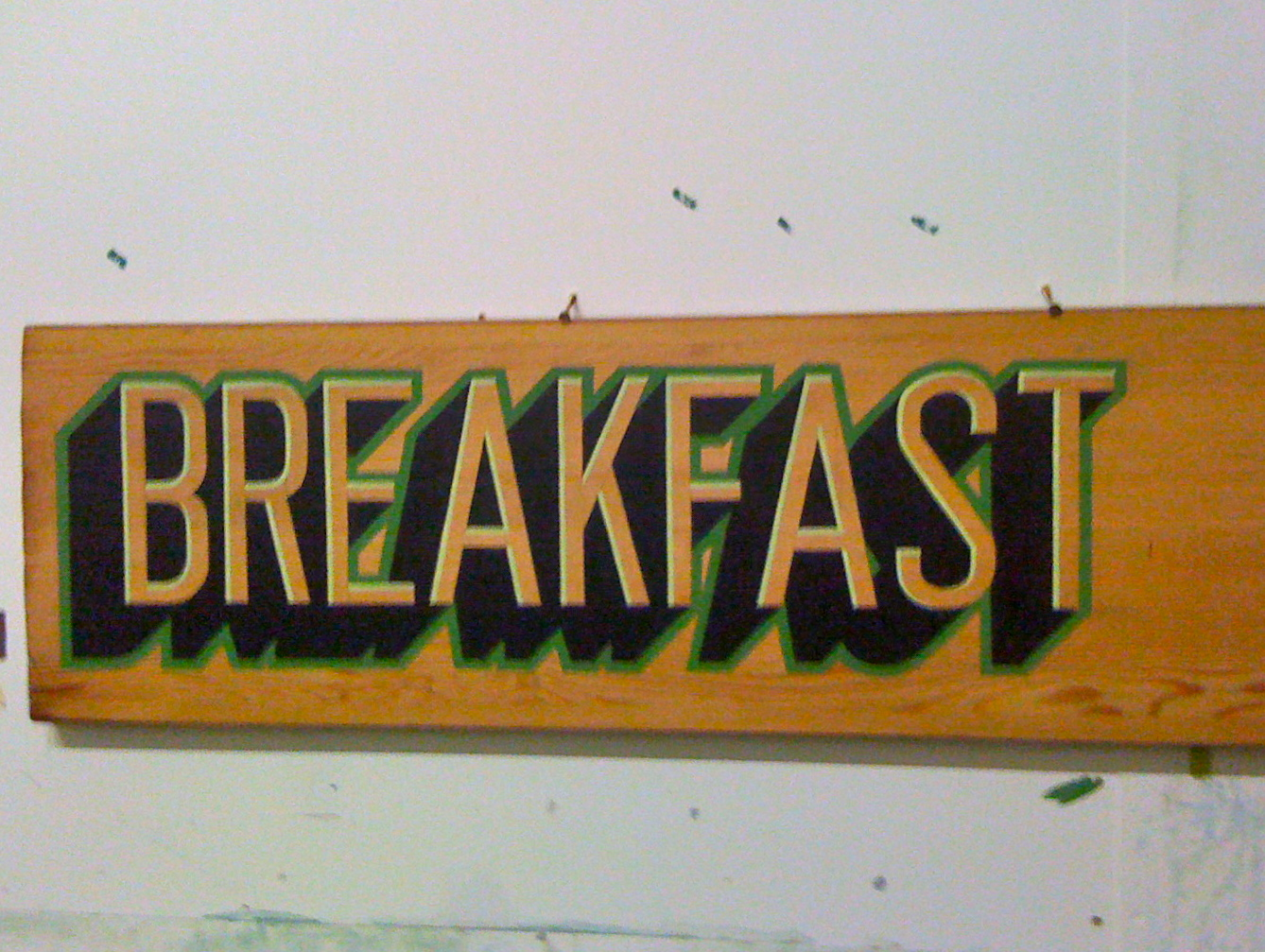 Breakfast Sign Breakfast Menu Sign