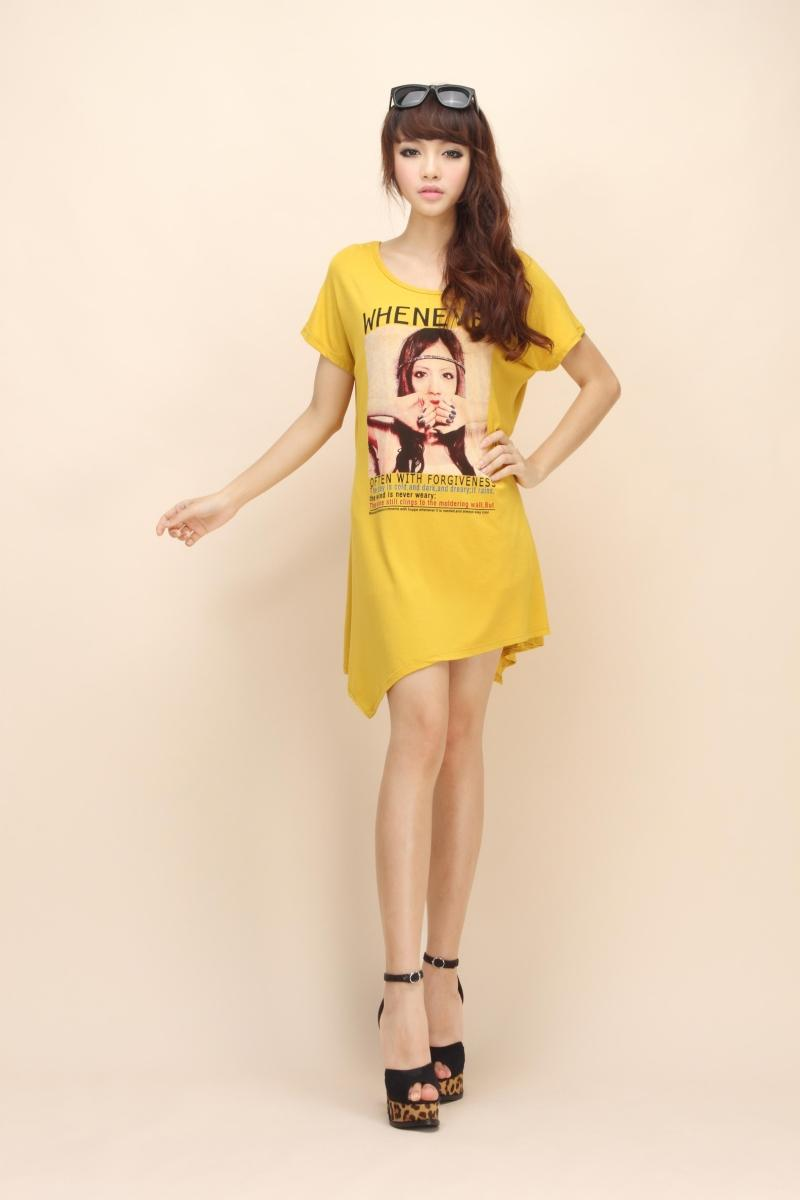 Over-sized tshirt as dress