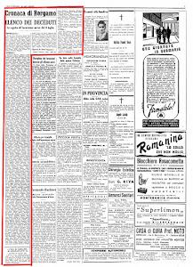 """""""ECO DI BERGAMO"""" 26 LUGLIO 1944"""