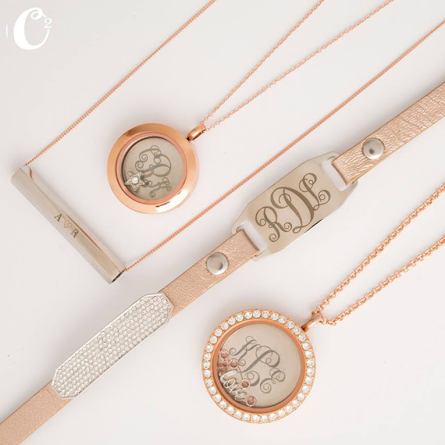 Inscriptions Monograms Window Plates - Origami Owl Living Lockets at StoriedCharms.com