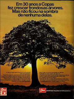 propaganda Copas - 1975.  1975. propaganda década de 70. Oswaldo Hernandez. anos 70. Reclame anos 70