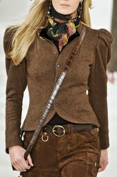 Brown Coat And Pant - Street Fashion