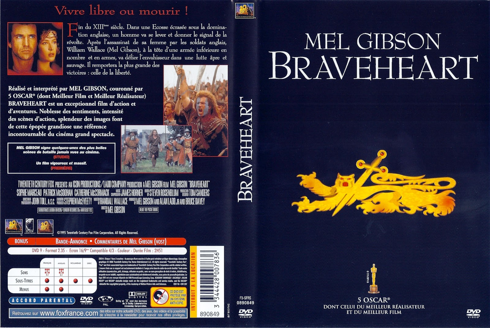 Braveheart Movie Dvd Cover