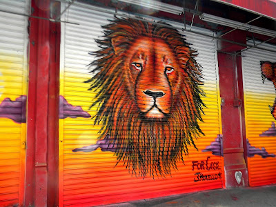Graffiti lion Photo