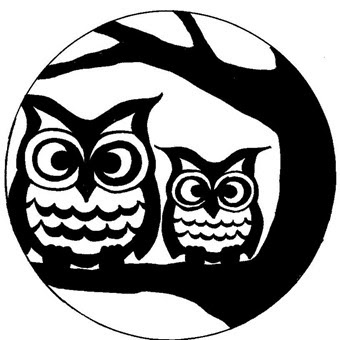 Geeky image within printable owl stencils