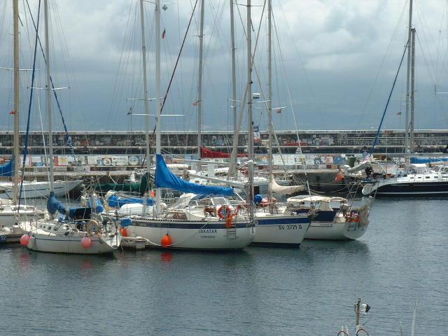 Berths at Horta Marina