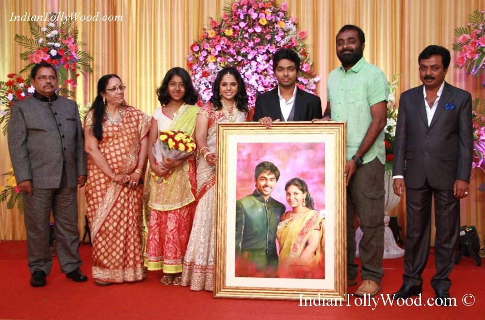 Gv Prakash Saindhavi Reception Photos