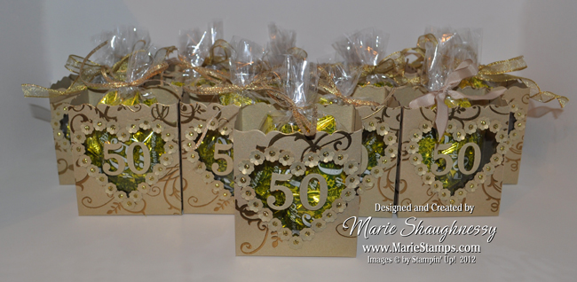 GOLDEN ANNIVERSARY FANCY FAVOR BOXES