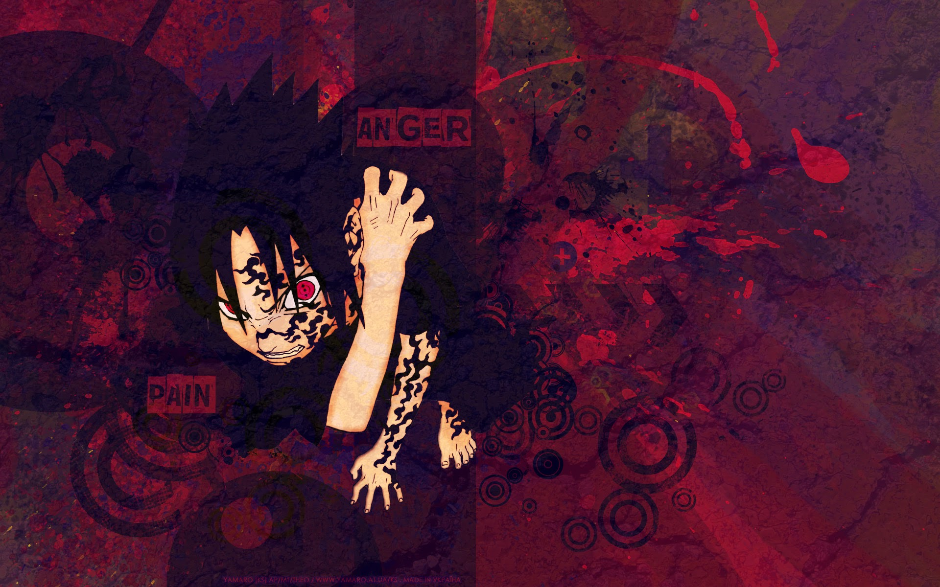 Sasuke Sharingan and Curse Seal 3e Wallpaper HD