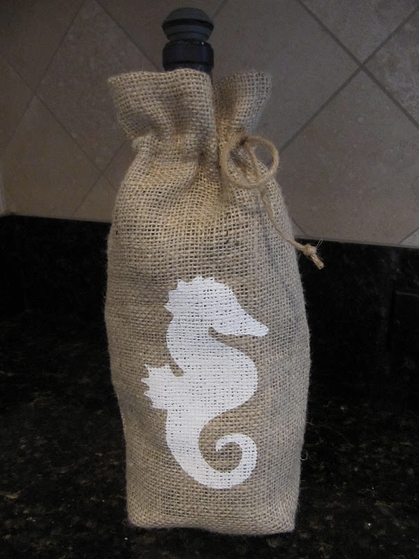 Laurie 39 s projects burlap wine gift bags for Burlap bag craft ideas