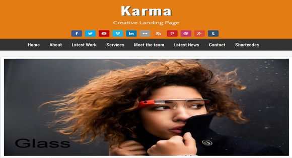 Karma Creative Landing Page Blogger Template