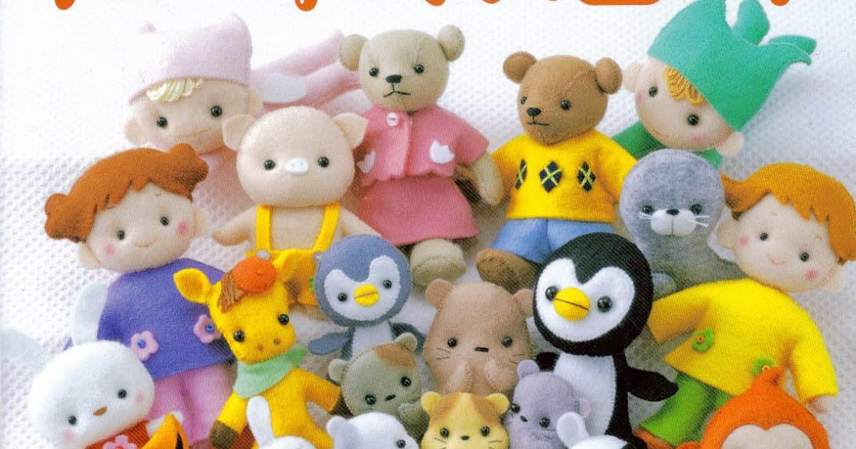 Free Japanese Craft Book Cute Felt Dolls Lady Boutique