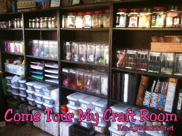 Come Tour My Craft Room for some fun craft room ideas and craft room organization