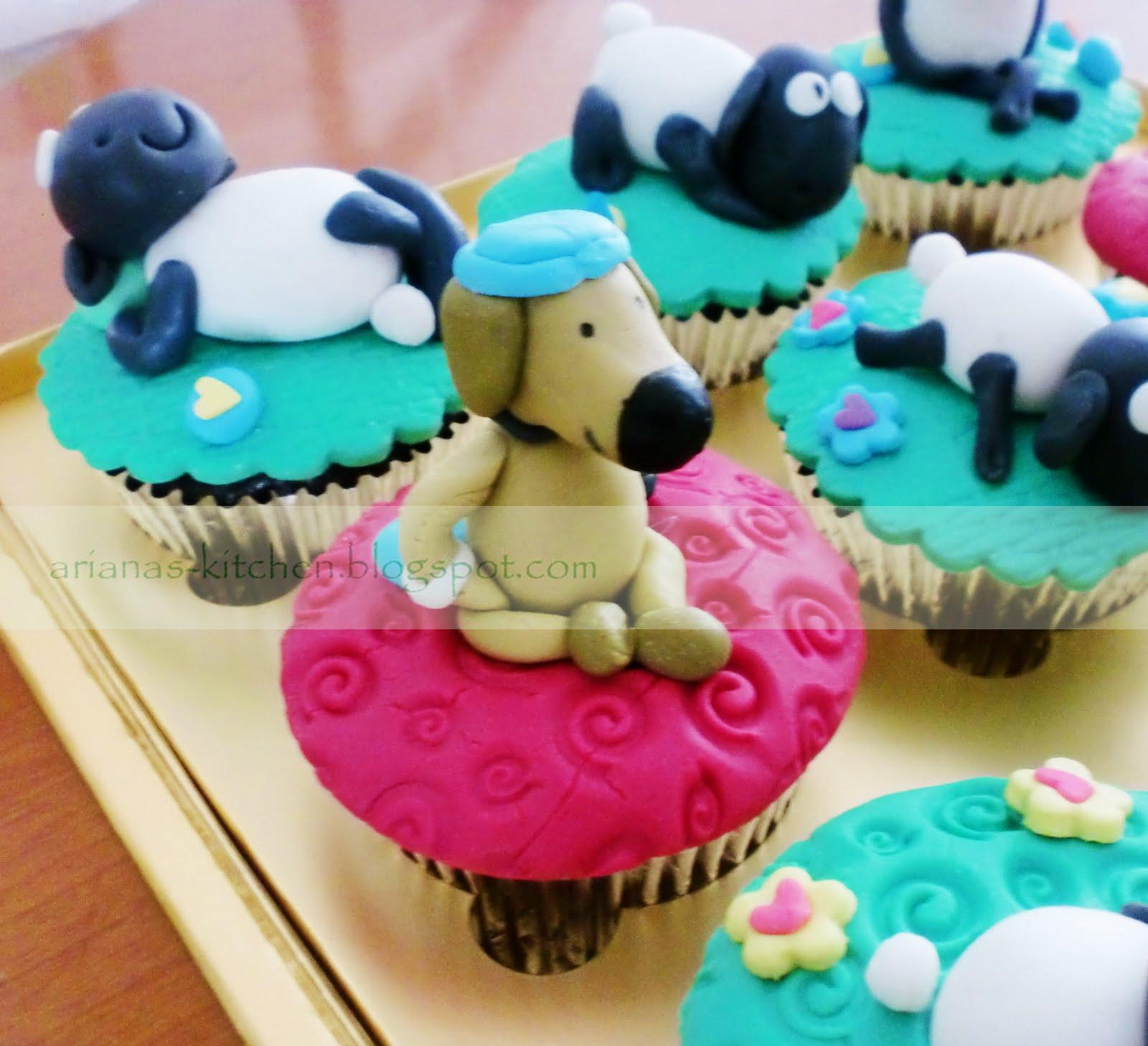 how to make shaun the sheep cupcakes