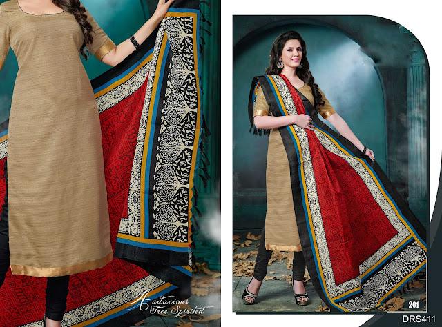 Latest Bhagalpuri Silk Cotton Dress Material