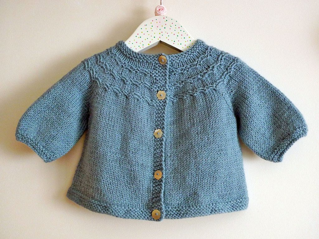 Knitting Patterns Sweater : Baby sweater patterns knitting long jacket