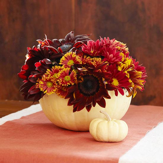 Jackie fo last minute thanksgiving centerpieces and a