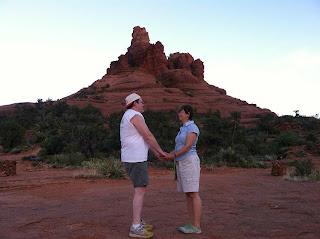 Bell Rock, Sedona, Arizona, sunset, marriage, couple, love