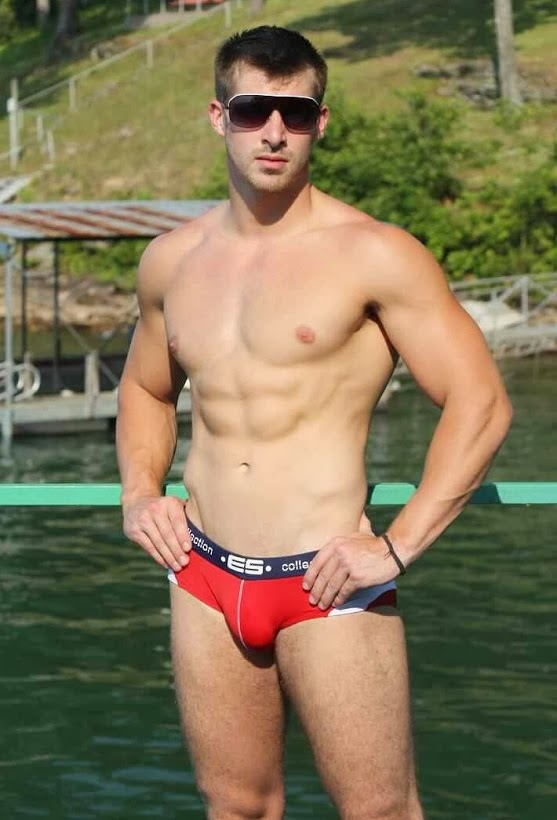 Athletic Man in Speedo