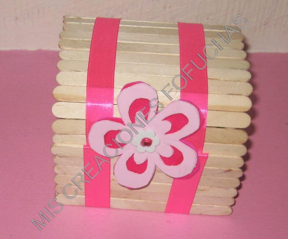 Mis creaciones fofuchas cajita y cofre hechos con palos - La cajita manualidades ...