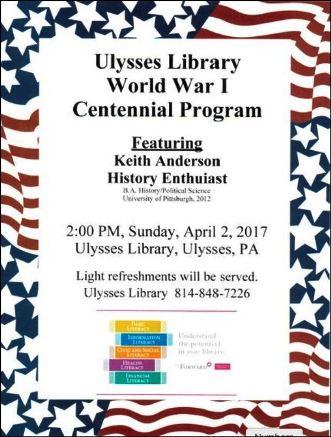 4-2 WWI Program, Ulysses Library