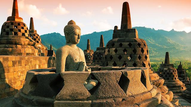 Ngôi đền Borobudur, mua vé máy bay đi Yogyakarta