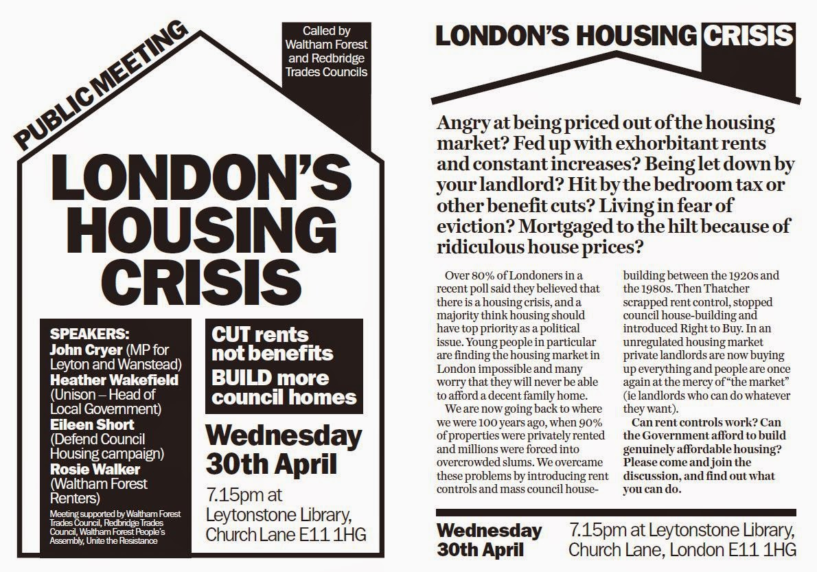 Waltham Forest Council Tax >> Barkingside's Notice Board: 30 Apr 2014: London's #Housing Crisis - Public Meeting