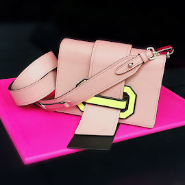 Prada Peach-Yellow Plex Ribbon Bag