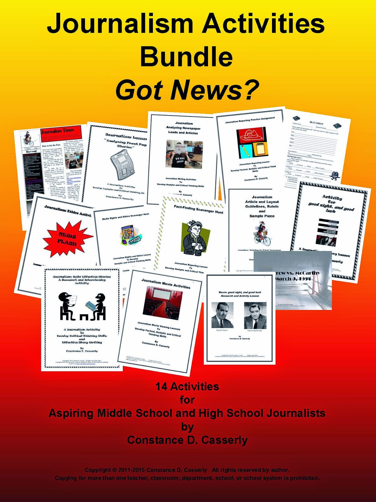Journalism Activities Bundle