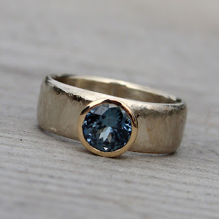 recycled sapphire ring